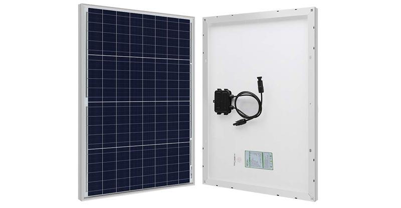 HQST 100 Watt 12 Volt Mono-Crystalline Solar Panel