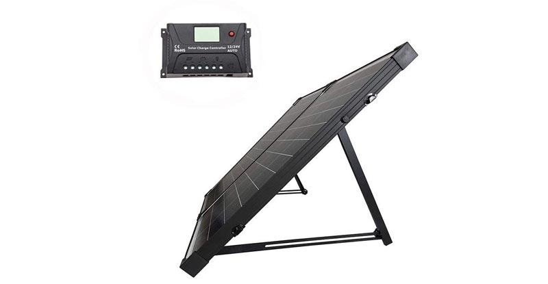 HQST 100W Polycrystalline Solar Suitcase