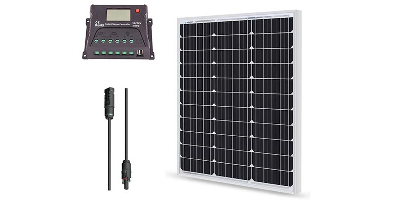 Renogy 50 Watt 12 Volt Mono-Crystalline Solar Bundle Kit