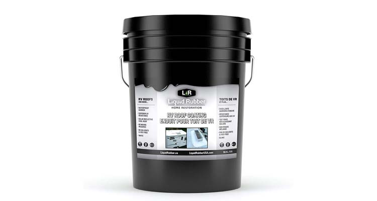 Liquid Rubber RV Roof Coating Sealant 5 Gallon