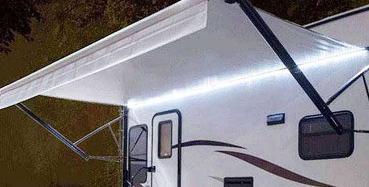 RecPro RV Motorhome White LED Awning Lights